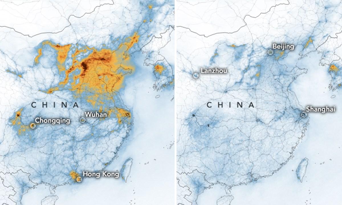 Caída de contaminación en China